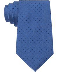 Calvin Klein Medium Blue Fashion Slim Tie - Lyst