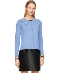 Kate Spade | Jewel Button Bow Cardigan | Lyst