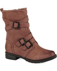 Kenneth Cole Reaction Closing Buckle Boots - Lyst