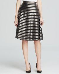 Catherine Catherine Malandrino Gracie Metallic Stripe Skirt - Lyst