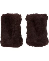 Barneys New York Fur Fingerless Gloves - Lyst