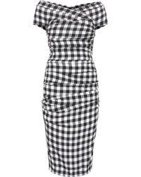 Dolce & Gabbana Stretch Silk Dress - Lyst