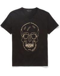 Alexander McQueen Skull Print Cotton Jersey T-Shirt - Lyst