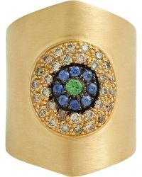 Ileana Makri Mixed Gemstone Eye Shield Ring - Lyst
