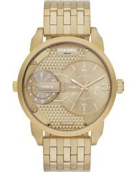 Diesel Mini Daddy Mens Gold Bracelet Watch - Lyst