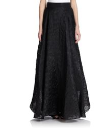 Milly Organza Circle Maxi Skirt - Lyst