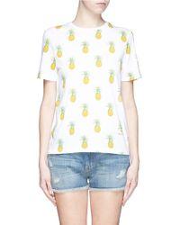 Tory Burch 'Cathy' Pineapple Print T-Shirt - Lyst