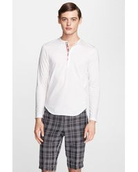 Thom Browne Jersey Henley - Lyst