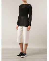 Jarbo - Bateau-Neck Cotton-Blend Sweater - Lyst