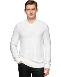 Calvin Klein | Shawl Collar Sweater | Lyst