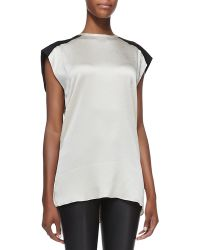 Helmut Lang Gravel Silk Sleeveless Top - Lyst