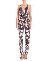 Issa | Printed Tie-waist Jumpsuit | Lyst