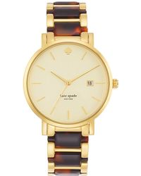 Kate Spade Ladies Gramercy Grand Gold-tone and Tortoise Watch - Lyst