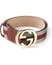 Gucci Monogram Buckle Belt - Lyst