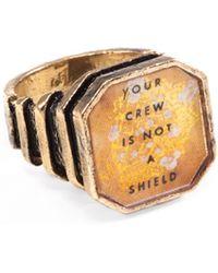 Lulu Frost G. Frost Frohawk Crew Ring gold - Lyst