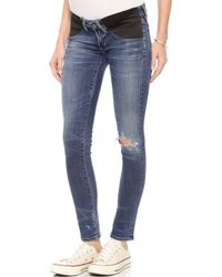 Citizens Of Humanity Racer Ultra Maternity Skinny Jeans - Distressed Weekend - Lyst