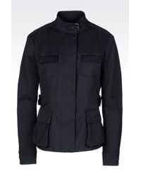 Armani Fitted Pea Coat In Technical Fabric - Lyst