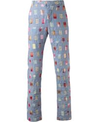 Band Of Outsiders Patchwork Chino Trouser - Lyst
