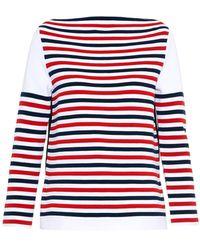 Sonia Rykiel Striped Mid-Weight Sweater - Lyst