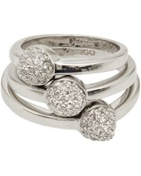 Eddie Borgo - Silverplated Single Pave Cone Ring Set - Lyst