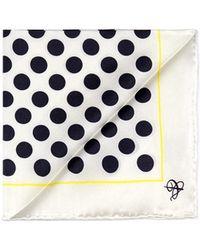 Canali Polka Dot Silk Pocket Square - Lyst