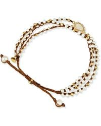 Tai - 3-strand Mother-of-pearl Beaded Bracelet - Lyst