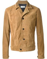 Saint Laurent Yellow Caban Jacket - Lyst
