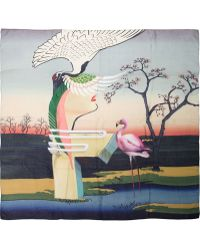 Mary Katrantzou Flamingo Scarf - Lyst