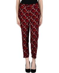 Marc By Marc Jacobs Casual Trouser red - Lyst