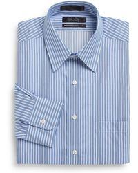 Saks Fifth Avenue Black Label - Classic-Fit Striped Dress Shirt - Lyst