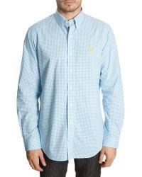 Polo Ralph Lauren Blue Custom Fit Checked Shirt - Lyst