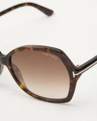Tom Ford Tortoiseshell Sunglasses - Lyst