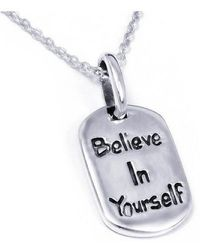 Aeravida - 'believe In Yourself' Inspirational Message Sterling Silver Necklace - Lyst