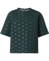 Stella McCartney Polkadotembossed Neoprene Top - Lyst
