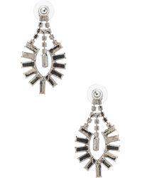 Tom Binns - Medium Crystal Baguette Earrings - Lyst