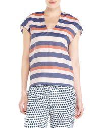 Alysi Striped Blouse - Lyst