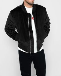 7 For All Mankind - Micro Cord Bomber In Black - Lyst