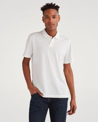 c6d81e36 7 For All Mankind - Emblem Two Button Polo In Pigment White - Lyst