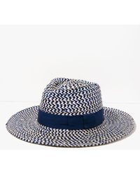 7 For All Mankind | Joanna Hat In Navy And Khaki | Lyst