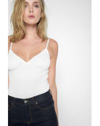 7 For All Mankind - The Cami Bodysuit In White - Lyst