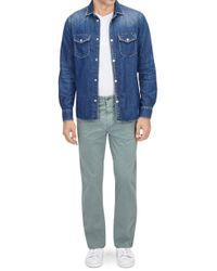 7 For All Mankind - Slimmy Chino Light Weight Fever Tree - Lyst