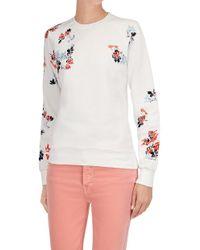 7 For All Mankind - Raglan Sweatshirt Cotton White - Lyst