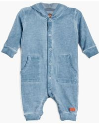 7 For All Mankind - Boy's 0-9m Hooded Coverall In Bering Sea - Lyst