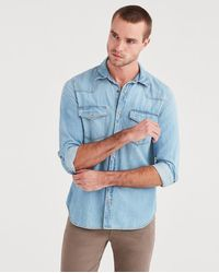 7 For All Mankind - Western Denim Shirt In Indigo Ranch - Lyst