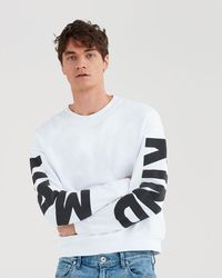 7 For All Mankind - Mankind Puff Print Crewneck In White - Lyst