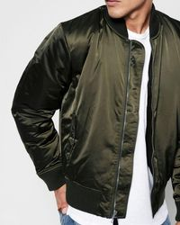 7 For All Mankind - Bomber Jacket In Army - Lyst
