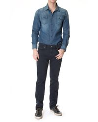 7 For All Mankind - Slimmy Luxe Performance Rinse Blue - Lyst