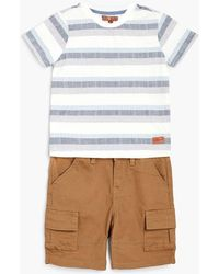 7 For All Mankind - Boy's 2t-4t Crew Neck Tee & Cargo In Deep Well - Lyst
