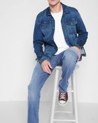 7 For All Mankind - Airweft Denim The Straight In Amalfi Coast - Lyst