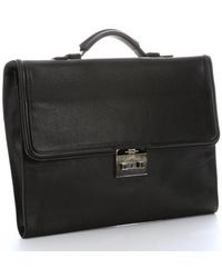 Tom Ford Black Leather Top Handle Briefcase - Lyst